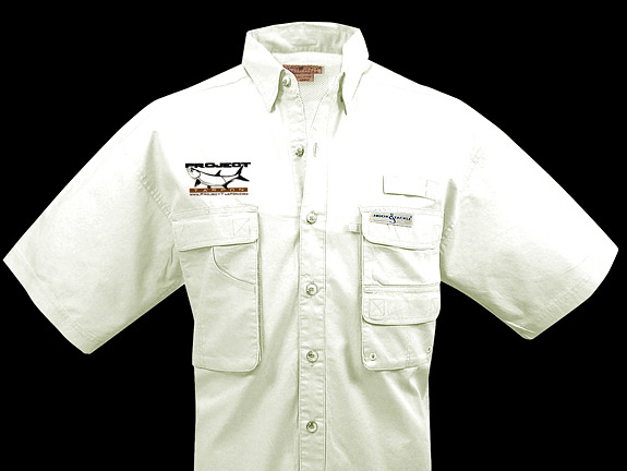 Project tarpon merchandise for Embroidered columbia fishing shirts